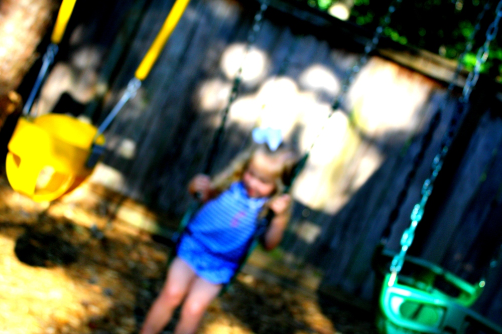 Swing Set in Summer